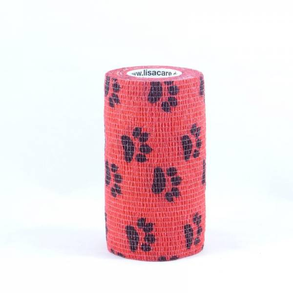 LisaCare - selbsthaftende Bandage 7,5 cm Rot